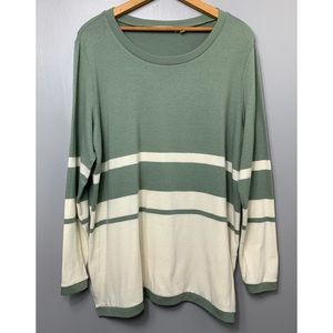 SOFT SURROUNDINGS Long Sleeve Striped Sweater